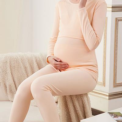孕妇秋衣秋裤套装纯棉产后月